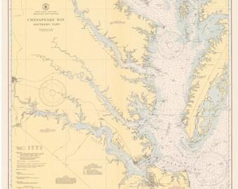 Chesapeake Bay Map 1944