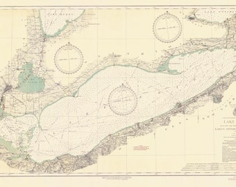 Lake Erie Map 1934