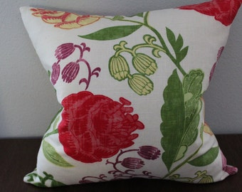 20x20 Green Red Yellow Bright Pillow Cover, Throw Pillow Case, Decorative Pillow Cover