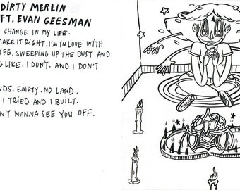 Ratsy Dirty Merlin ft. Evan Geesman - Loner'sTrap Original Ink Illustration