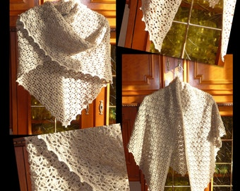 Shawl / crochet shawl - hand - made to order