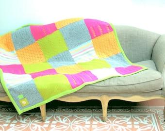 tricot patchwork deken