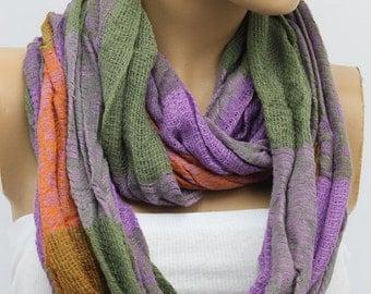 Scarf Knit Infinity Scarf, Womens Knit Winter Scarves, Womens Knit Infinity Scarf, Knit Scarves, Knit Infinity Scarves
