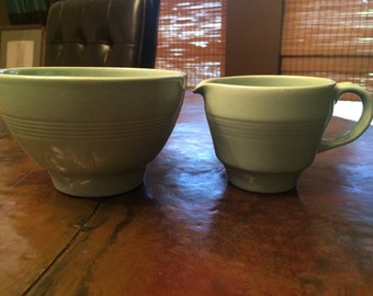 Vintage Creamer and Sugar Bowl