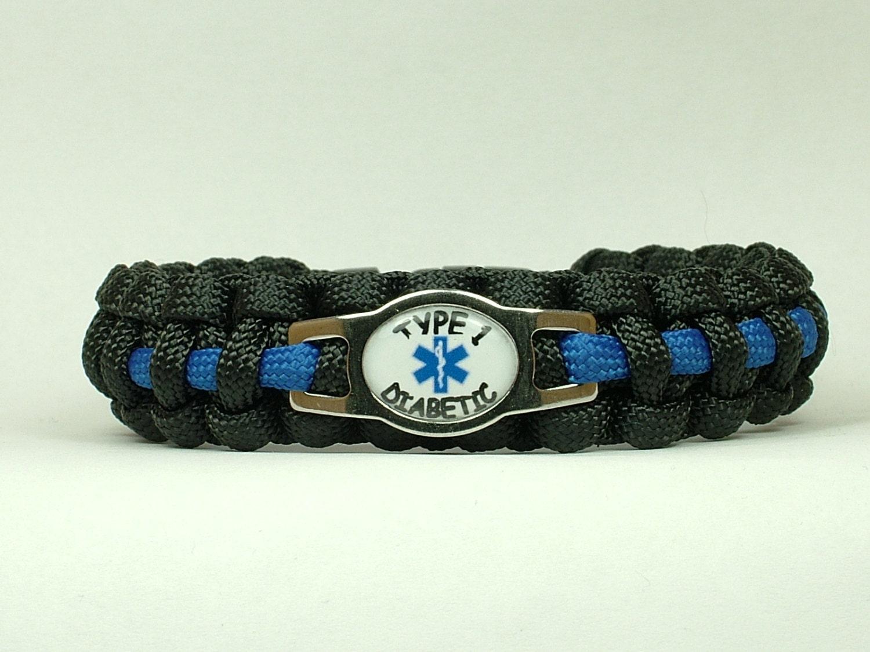 alert type 1 diabetes paracord bracelet