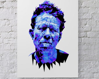 Tom Waits - B&W and Blue Valentine prints