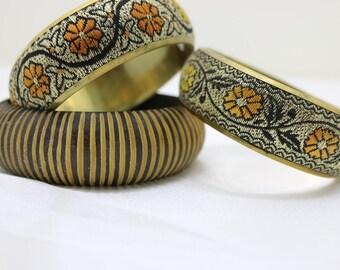 1920's bangle, Flower Bangle, vintage bangle, brass bangle, artisan bangle, Classic bangle, metal bangle, Floral Bangle, Artisan bangle