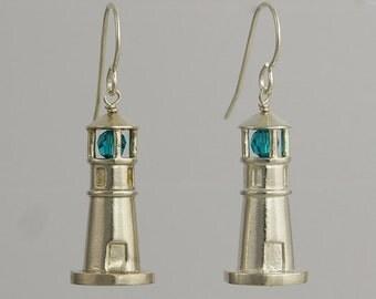 Lighthouse Earrings - Sterling Silver