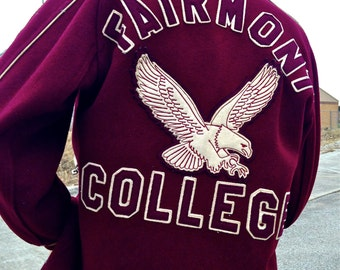 Vintage 1960s Fairmont State College Varsity Jacket