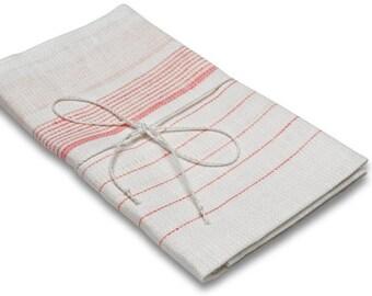Linen tea towel, white tea towel, linen kitchen towel, white towel, white linen towel, white red, natural kitchen towels, flour sack towels