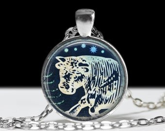 Taurus Jewelry Zodiac Necklace Wearable Art Pendant