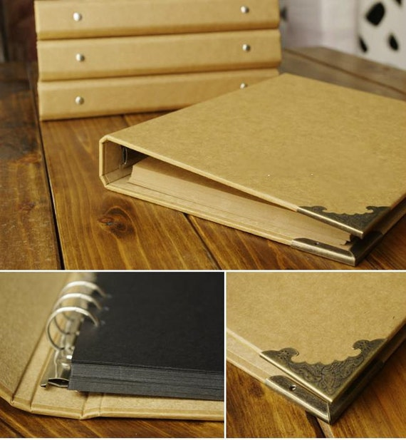 Diy Hardcover Book : Blank kraft hardcover diy scrapbook photo album by