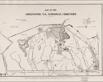 24x36 Poster; Map Of Arlington, Virginia National Cemetery 1892