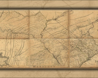 24x36 Poster; Map Of Eastern Pennsylvania 1768