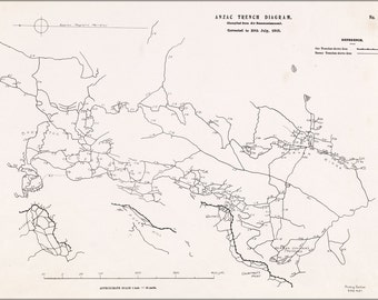24x36 Poster; Battle Of The Nek - Map Of Objectives Wwi