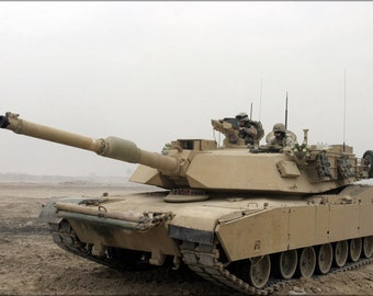 24x36 Poster; M1A1 Abrams Tank In Camp Fallujah