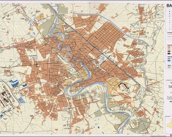 24x36 Poster; Map Of Baghdad Iraq 2003