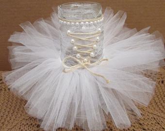 Bridal Shower Centerpiece,Rustic Wedding Centerpiece, Burlap Bride,Mason Jar Tutu,Rustic Bridal Shower Decorations Burlap Bachlorette Decor