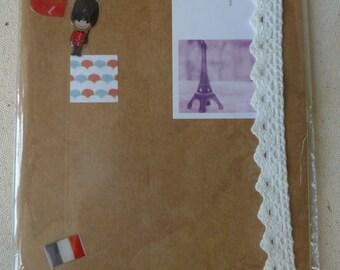 Book, handmade, lace, white, A5, paris, soldier