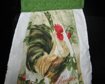 Hand towel/pot holder Rooster