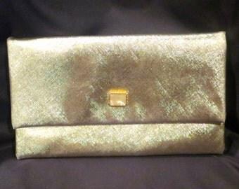 1970s Metallic Gold Clutch