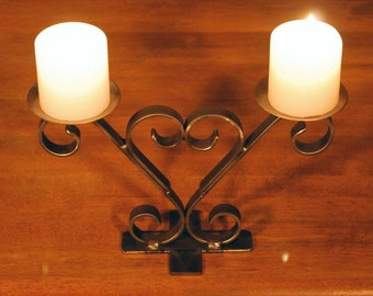 Ornamental Wrought Iron Candle Holders