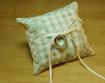 Ring Cushion Sewing Kit - Homemade Personalised Gift or Keepsake - DIY Sewing Kit - Wedding Present - Gingham
