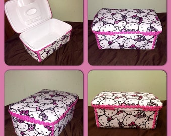 Handmade Hello Kitty wipes case! Can be personalized!