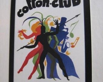 The Cotton Club / Harlem / Jazz / Vintage Style Decal / Sticker for car, laptop, window, locker, wall, truck