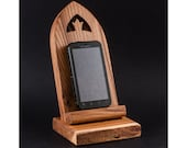 Handmade wooden Android/iPhone stand