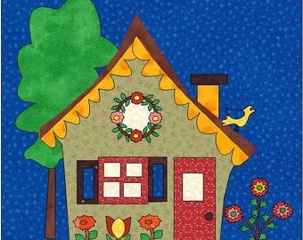 House Quilt Block - PDF Download - Instant Download - House Pattern - Block Pattern - Quilt Pattern - Quilt Block - Block Pattern