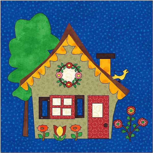 House Quilt Block PDF Download Instant Download House