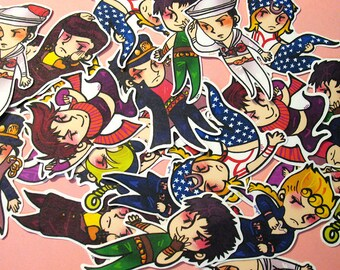 JJBA Sticker set of 8