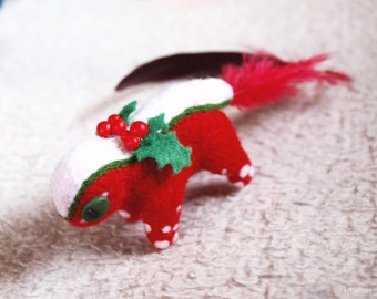 Christmas Feathertail Needle Felted