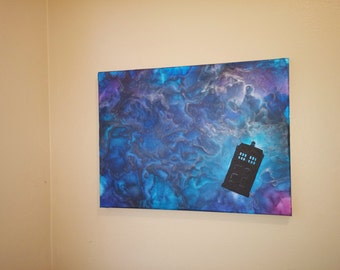 Doctor Who Inspired Melted Crayon Canvas Art