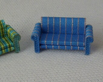 Leather or fabric sofa, hand-made, 1/120 scale for baby house