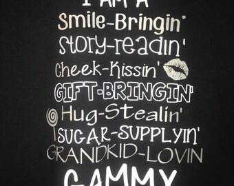 Grandparent T-Shirt Gammy, Nana, Mimi, Grammy, Grandma