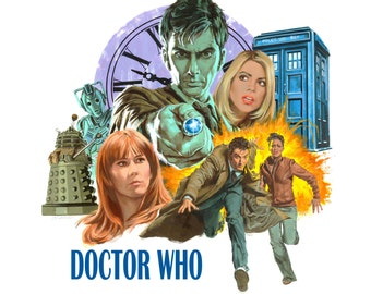Doctor Who Poster, Doctor Who Art, Doctor Who Print, The Doctor Poster, The Doctor Art