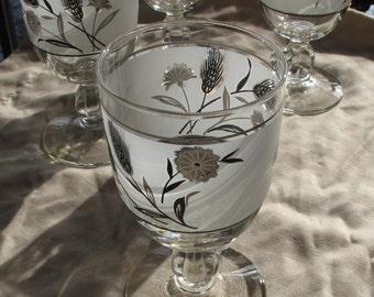 Vintage Wine Glasses - set of 4