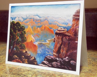 Blank Greeting Card - Grand Canyon with Colorado River