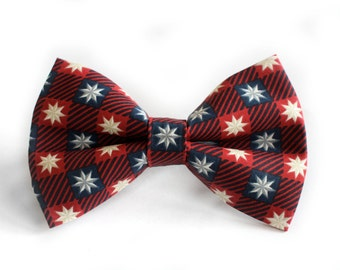 Red, White & Blue Bow Tie