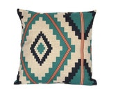 Kilim throw pillow cover 18x18 Geometric decorative pillow covers Aztec cushion cover 22x22 Tribal cushion cases Outdoor pillow case #01276