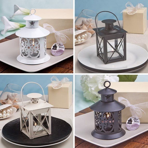 Rustic Wedding Favors 14 Lantern Candle Holders By