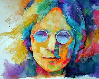 John Lennon Watercolor