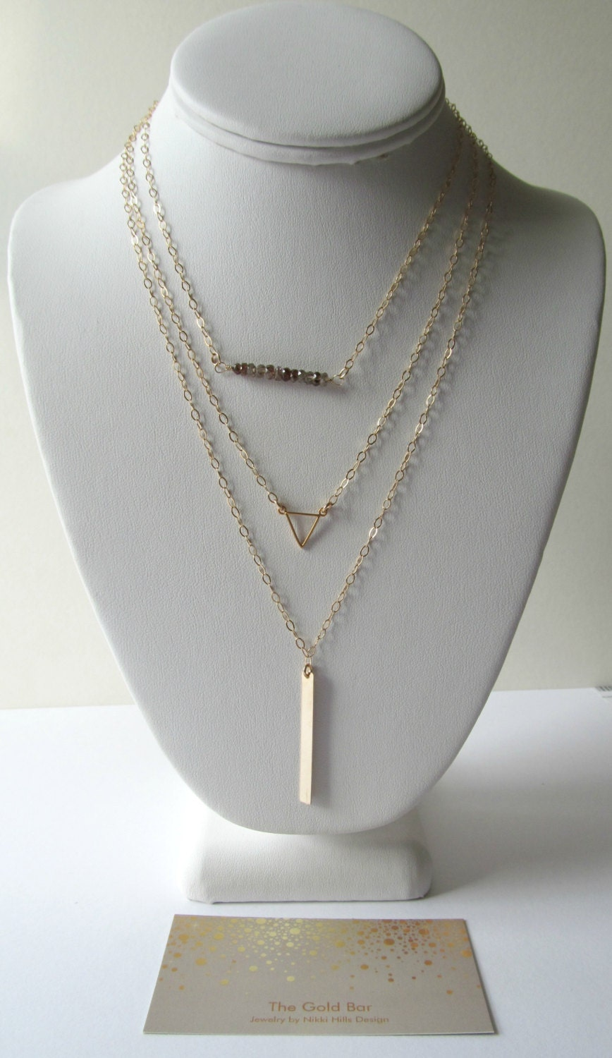 long and layered necklaces set layered necklace set by. Black Bedroom Furniture Sets. Home Design Ideas