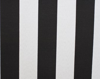 Fabric, Black & white stripe fabric, Indoor Outdoor fabric, for upholstery, Cushion, Drapery,