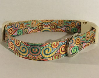 Dizzy Swirls Dog Collar