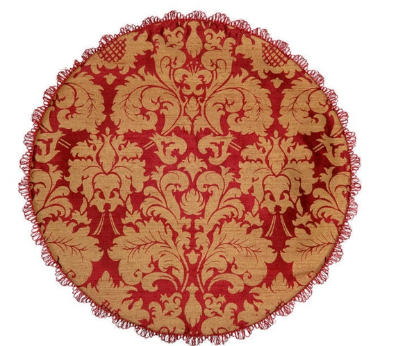Round Table Topper Table Centerpiece Table Runner Red