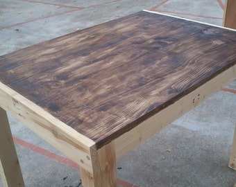 Outdoor reclaimed wood table