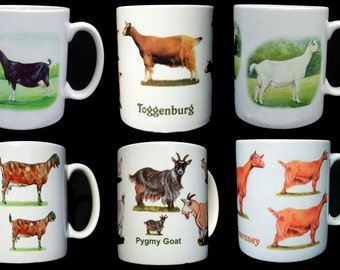 Goat Mugs, choose from eight designs